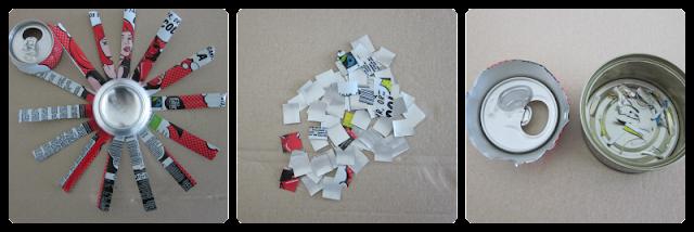 Scrapbooking ecológico: cómo hacer un mosaico con latas de bebidas (2)