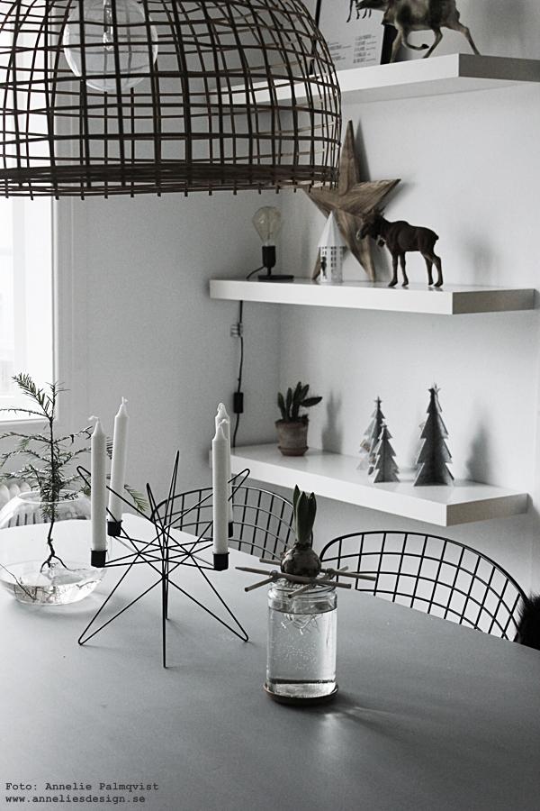 Ernst Kirchsteiger, diy, pyssel, hållare för hyacinter, hållare för lökar, stor ljusstake, jul, julpynt, julen 2015, matbord, gran i vas, advent, ljusstakar, julblomma, julblommor, inredning, inredningsblogg, bloggar, webbutik, webbutiker, webshop, interior, kök, köket, kökets, köks, bord, stolar, stol, svart, vitt, svart och vitt, svartvit, svartvita, stjärna ljusstake, look alike, star, nettbutikk, nettbutikker, Oohh, julpynt 2015