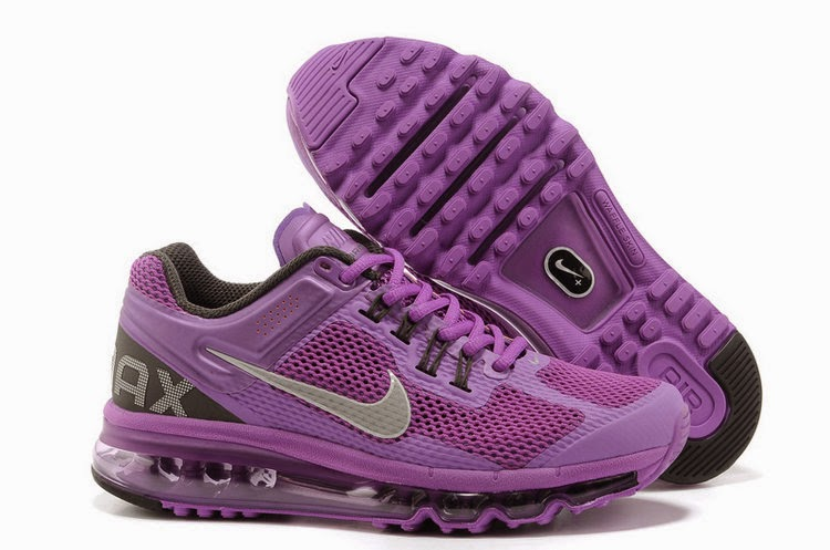 Cheap Nike Air Max 2013 Womens Purple Silver Gray Running Shoes