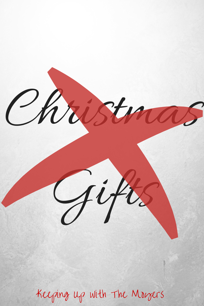 No Christmas Gifts Instead of exchanging gifts