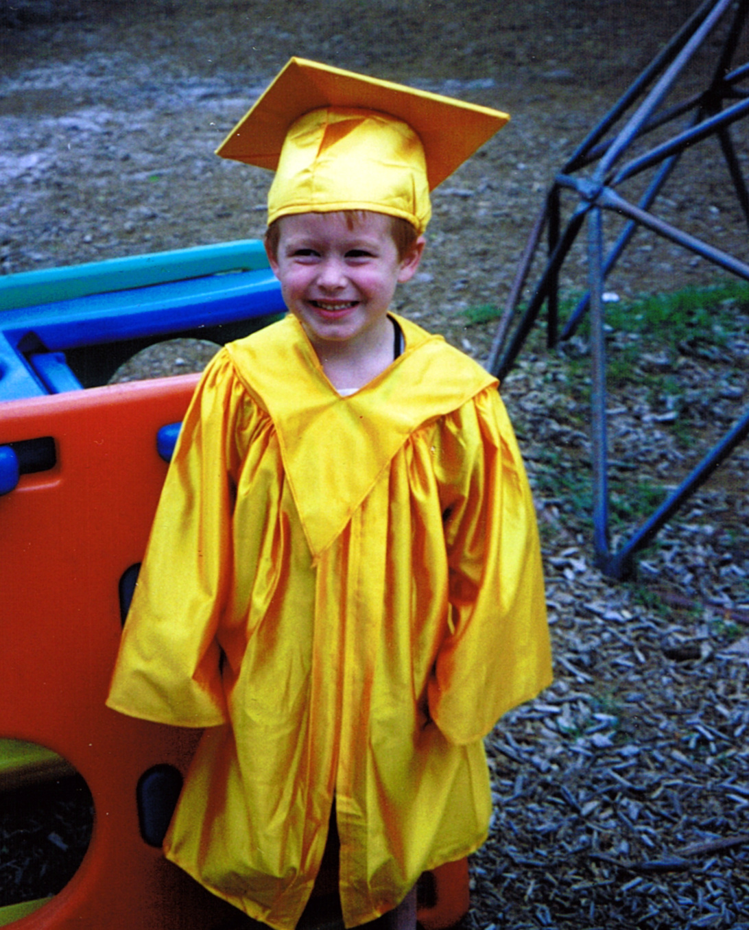 Cap and gown for kindergarten - I Have A Better Graduation Picture But I Can T Find It