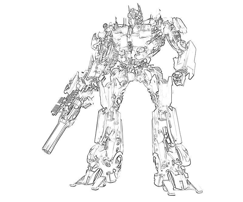 transformer optimus prime coloring pages - photo#27