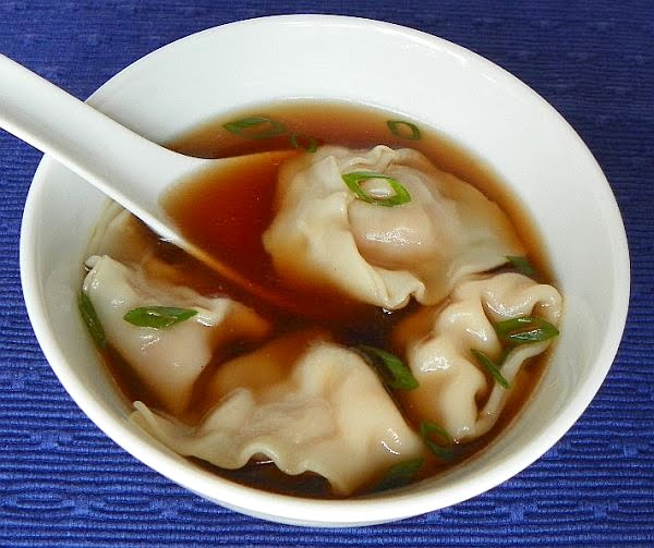 wonton soup first up was wonton soup clear chicken broth