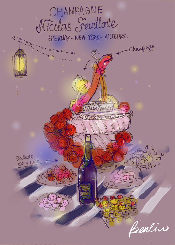 Cake and Champagne Nicolas Feuillate