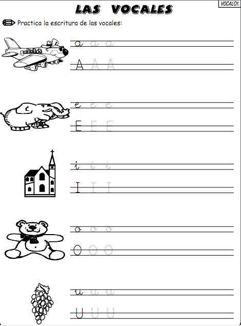 Aprendiendo las vocales para imprimir - Imagui
