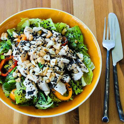 Red Cabbage And Chicken Asian Salad With Tangy Cilantro Dressing ...