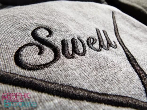 broderie graphic please marquage sur textile sweat capuche brod. Black Bedroom Furniture Sets. Home Design Ideas