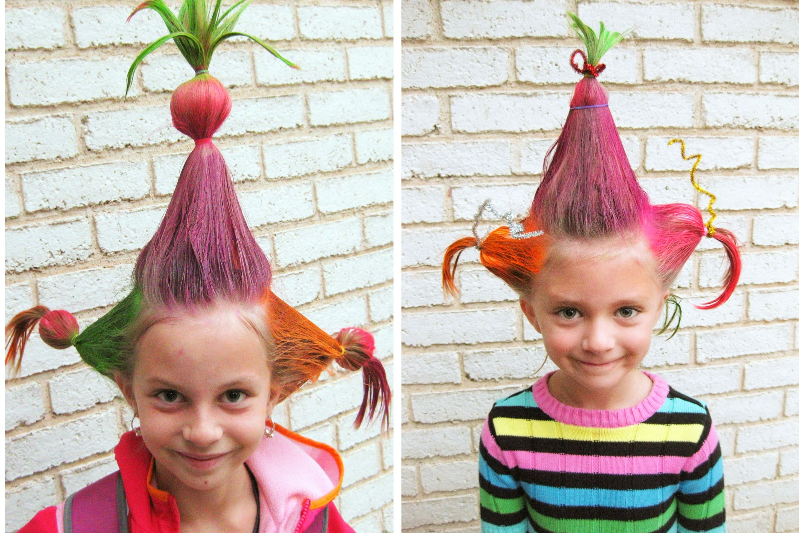 Tacky Day Hair Ideas http://kimmeikle.blogspot.com/