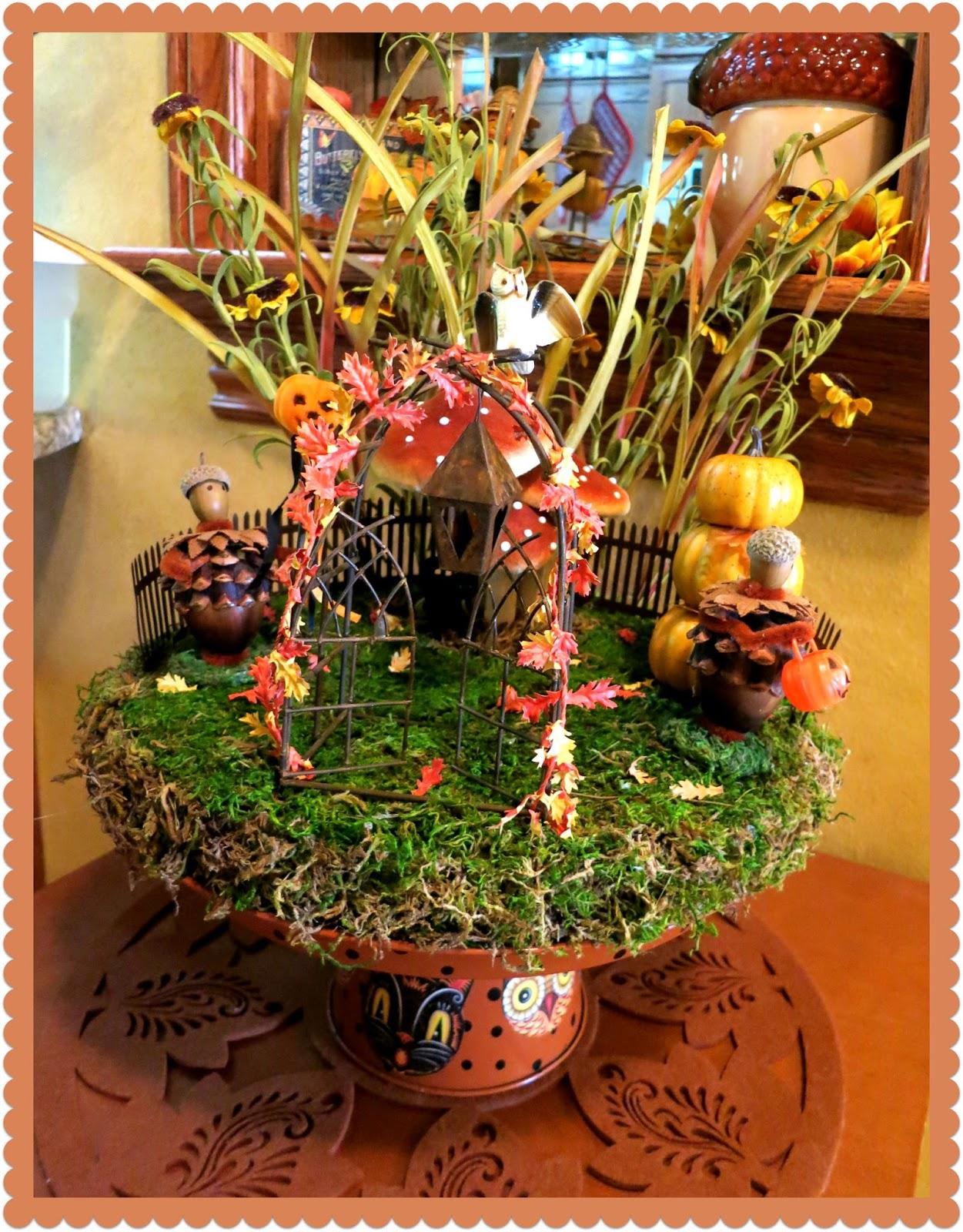 Zetta\'s Aprons: Fall Fairy Garden!