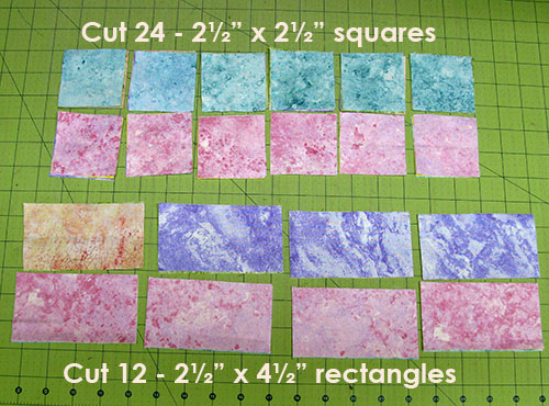 cutting sizes for placemats