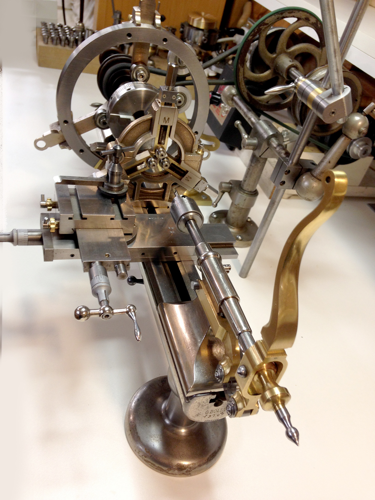 Mowrer Ww Lathe Tools  The Fully Dressed Watchmakers Lathe