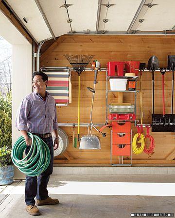A very organized garage