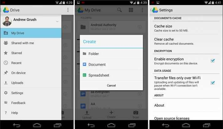Aplikasi office google drive android
