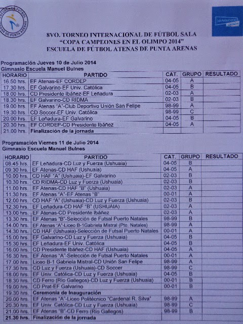 """Comienza el 8vo. Torneo Internacional de Futsal """"Campeones en el Olimpo 2014"""""""