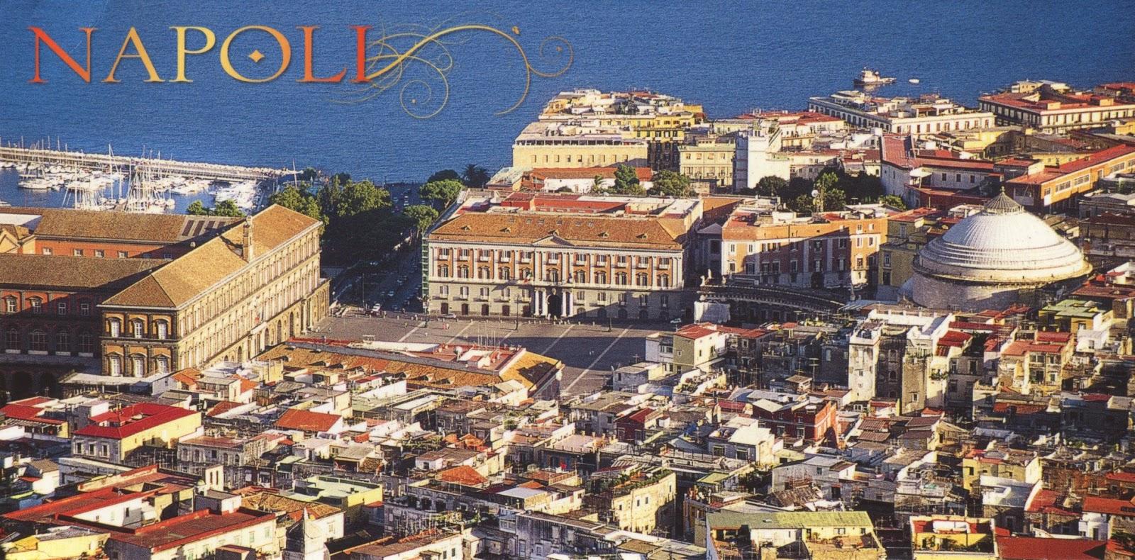 postcard, italy, piazza del plebiscito