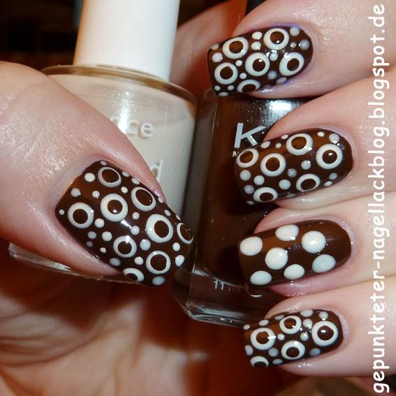 Gepunkteter nagellackblog 31 tage nail art challenge tag 21 braun beige taupe - Nageldesign braun beige ...