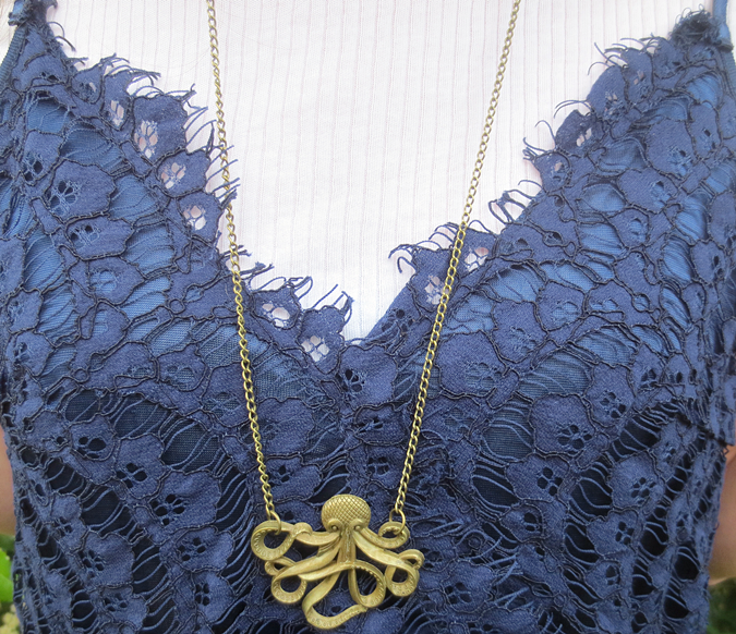 gracie blue hello octopussy necklace