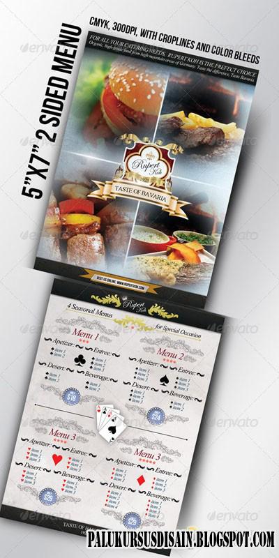 PSD - Restaurant / Catering / Cafe menu