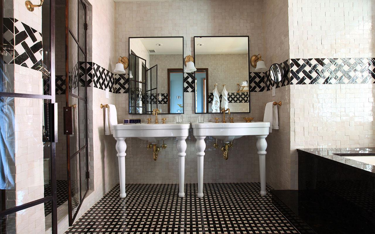 Baños Estilo Marroqui:Estilo clásico, estilo campestre, rasgos franceses combinados con
