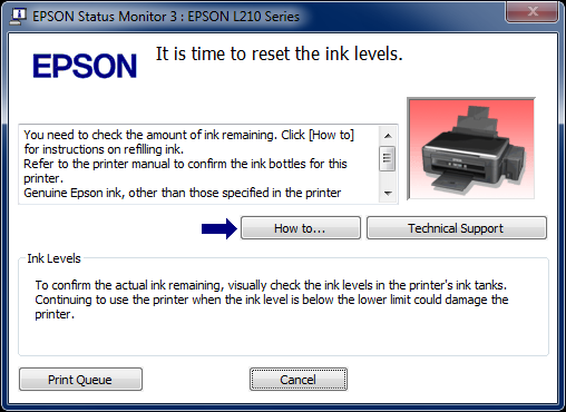 Mengatasi Blink Printer Epson L210 It Is Time To Reset Ink