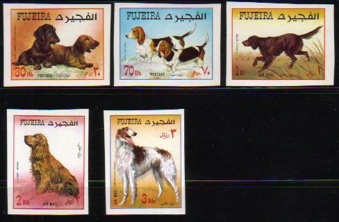 1970年フジェイラ ダックスフンド バセット・ハウンド ゴードン・セター コッカー・スパニエル ボルゾイの切手