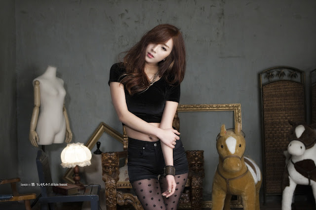 1 Minah in Black - very cute asian girl - girlcute4u.blogspot.com