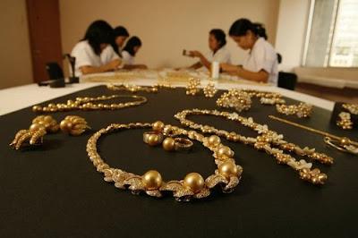 O segredo das pérolas douradas Golden Pearl pérolas preciosas