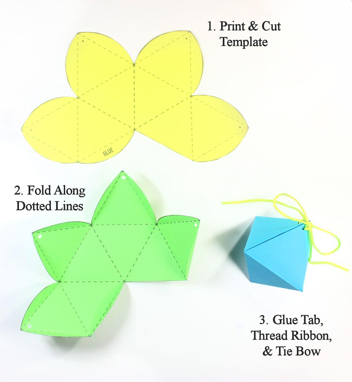 DIY Diamond Gift Boxes (with Free Printable Octahedron Templates ...