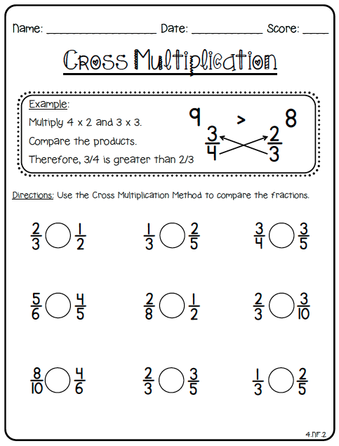 4th grade common core math fractions worksheets