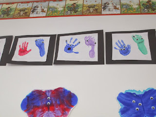 Hand and Footprint Monsters by the Pa-Paw Patch