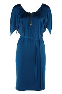 afrodit mavi uzun elbise modeli