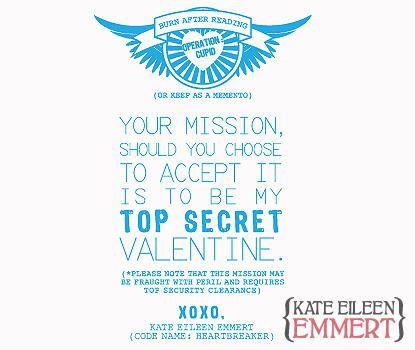 Kate Eileen Emmert: Operation: Cupid   Happy Valentineu0027s Day!   Secret  Valentine