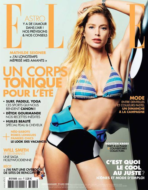 Doutzen Kroes wears swim looks for Elle France June 2015