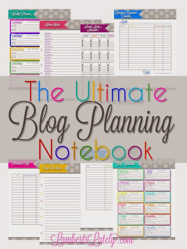 Lambert's Lately Shared her Ultimate Blog Planning Notebook featured at One More Time Events.com #Blogplanner