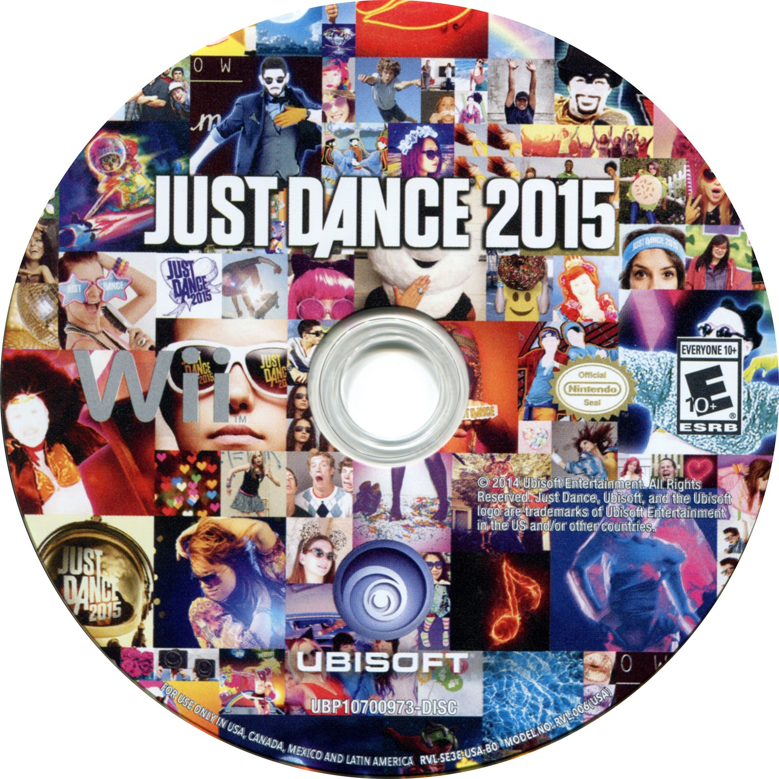 Label Just Dance 2015 Wii