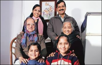 arvind kejriwal family photos
