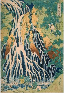 Pèlerins de la cascade Kirifuri du mont Kurokam Katsushika Hokusai