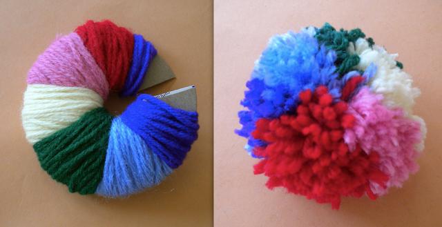 Как сделать помпон на шапку из пряжи или ниток - Мастер класс 68