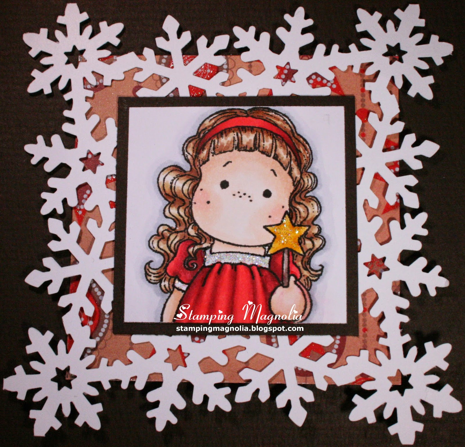 Coloring Magnolia Stamp Merry Little Christmas Collection - Star Tilda