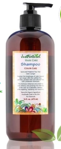 http://www.justnaturalskincare.com/hair-color-treated/color-care-natural-shampoo.html