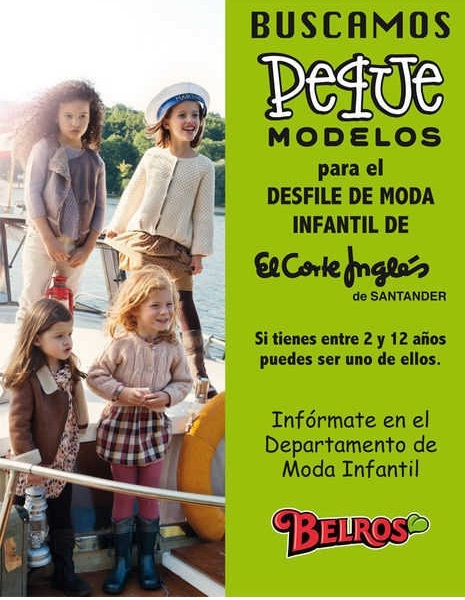 CASTING NIOS DE 2 A 12 EL CORTE INGLES BUSCA PEQUE MODELOS