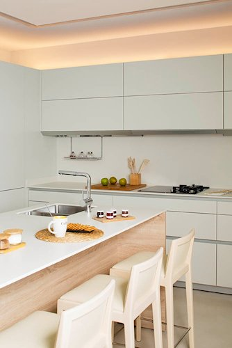 cocina blanca de diseño