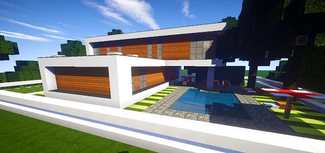 Casa moderna andyrplays skybuild constru es de for Casa moderna minecraft pe 0 10 5