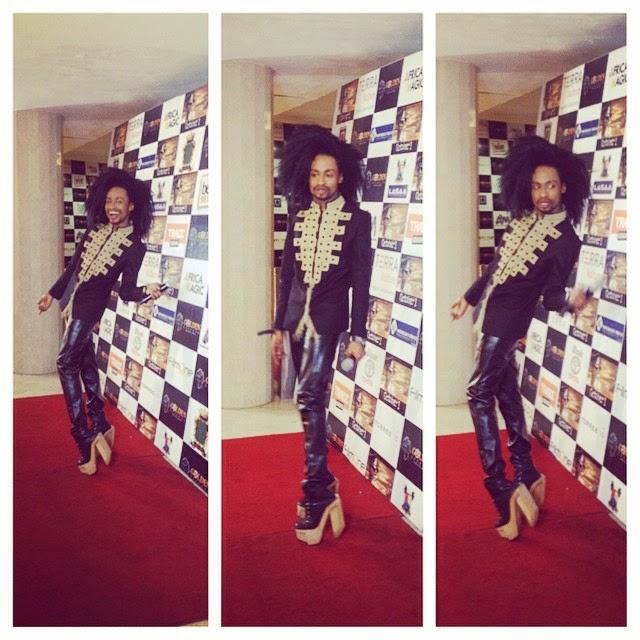 Denrele Edun at Kunle Afolayan's Movie Premiere