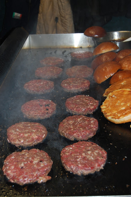 London Burger Bash - Racine Burger Patties on Grill