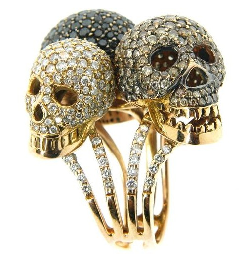 Scull Gold Jewelry Ring