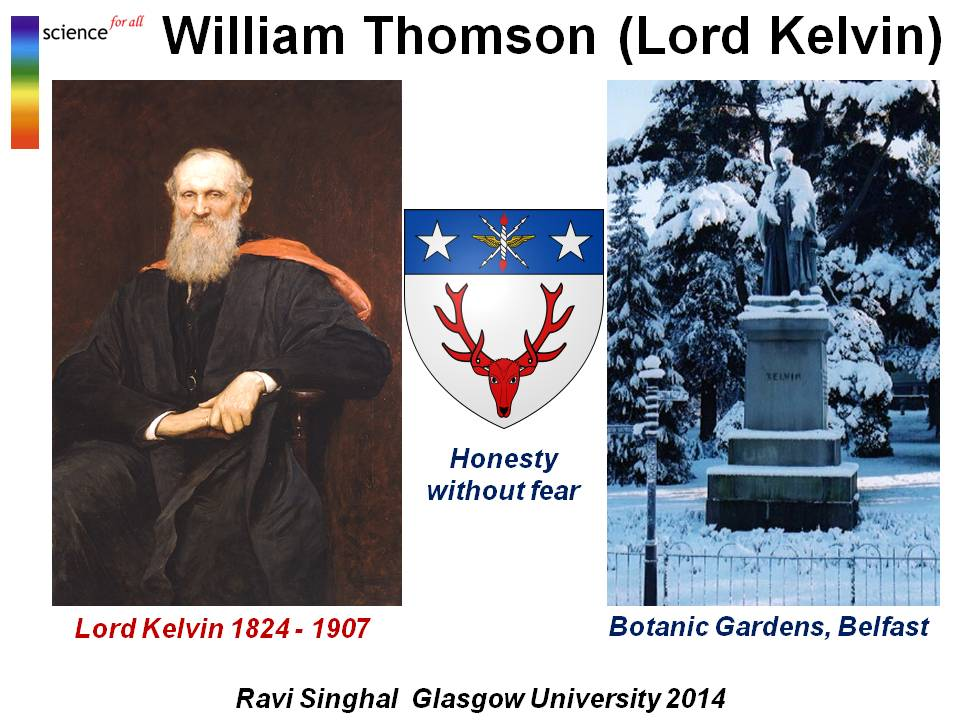 lord kelvin or william thomson essay The powerful notion of vortices in fluids abstracts the mathematical essence of such objects, and led william thomson, the 19th century physicist whose work earned him the title lord kelvin, to.