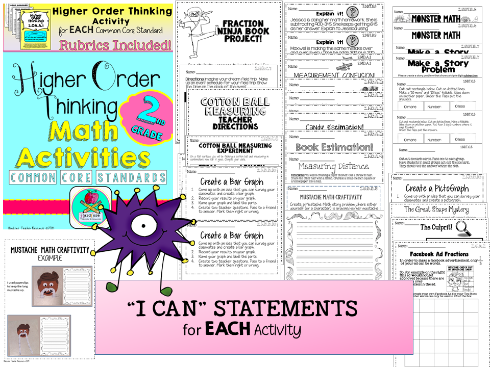 http://www.teacherspayteachers.com/Product/Second-Grade-Common-Core-Math-Higher-Order-Thinking-Activities-GATE-1375457