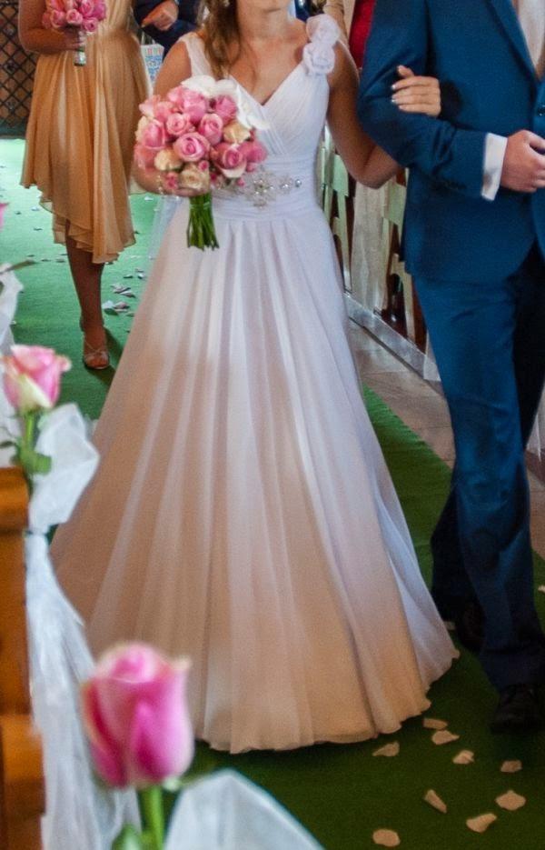 Suknie ślubne Vestido Muślinowa Suknia ślubna