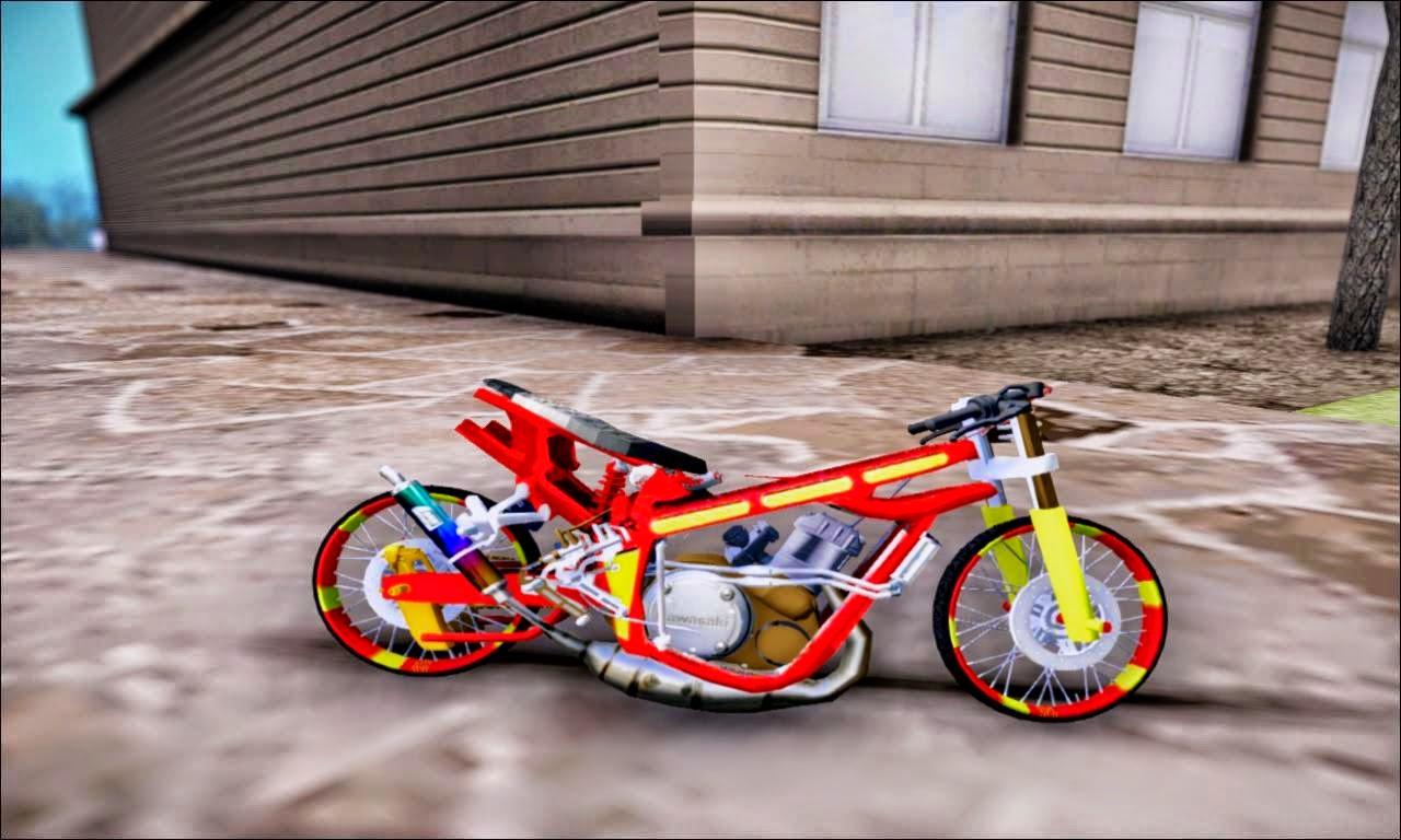 Koleksi Gambar Motor Drag Pake Pensil Terbaru Kinyis Motor
